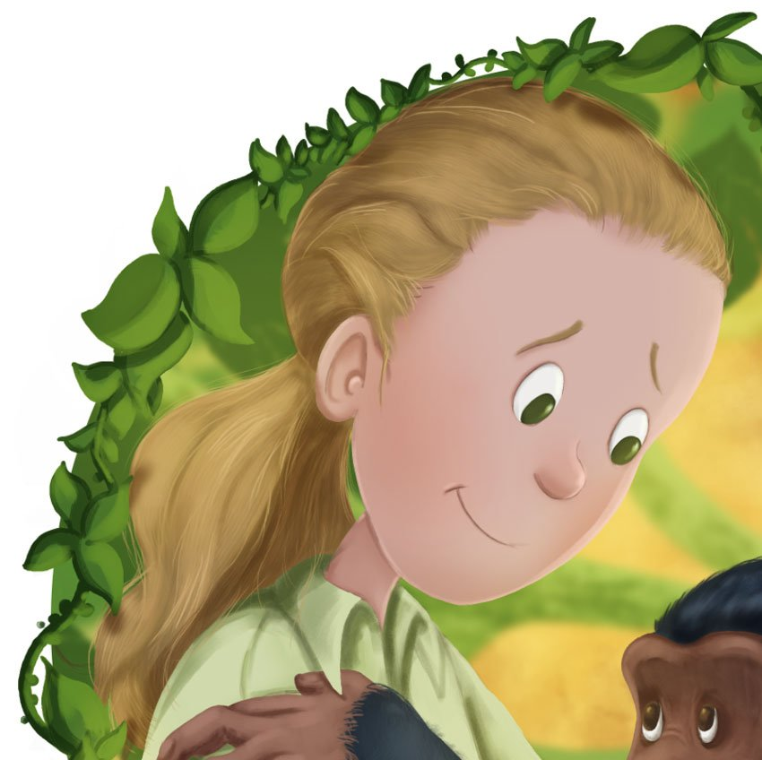 Close Up Of Jane With Leaf Shadows