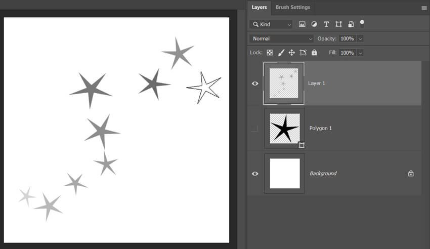 Sample for Star Trail Brush Effect in Photoshop