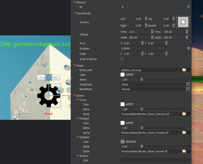 UI Editor - Text Background and Buttons layout