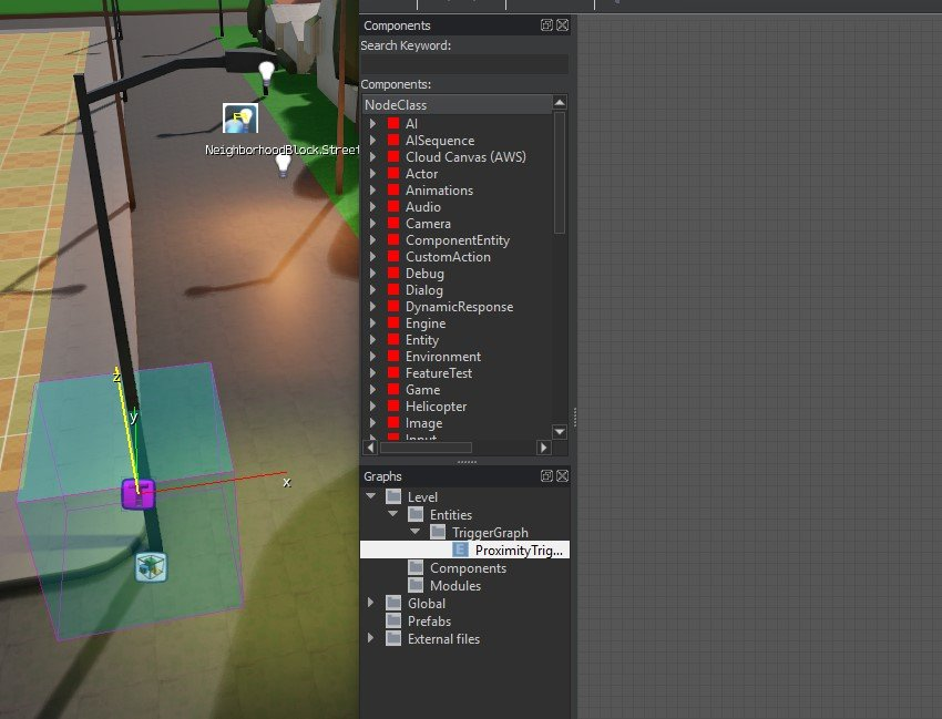 Dual interface options with the Proximity Trigger and the Flow Graph