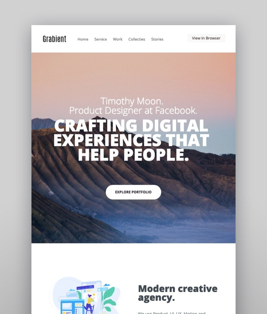 Grabient  Email Newsletter