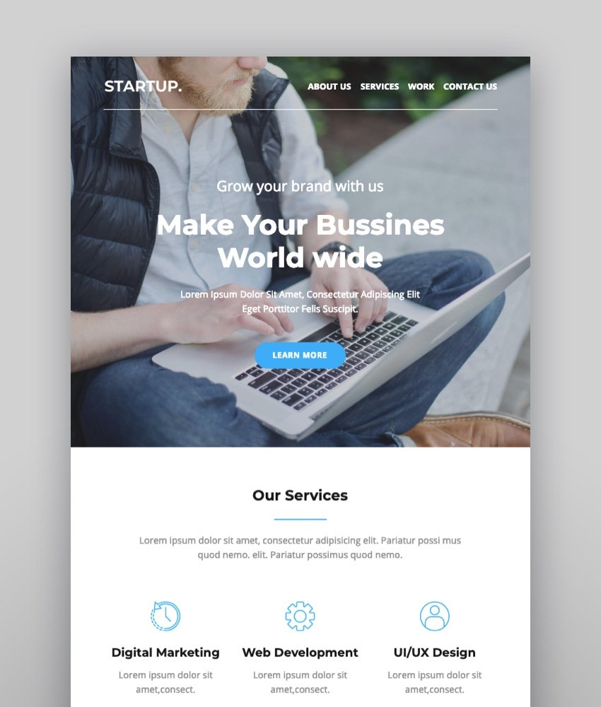 Startup - Agency Responsive Email Template