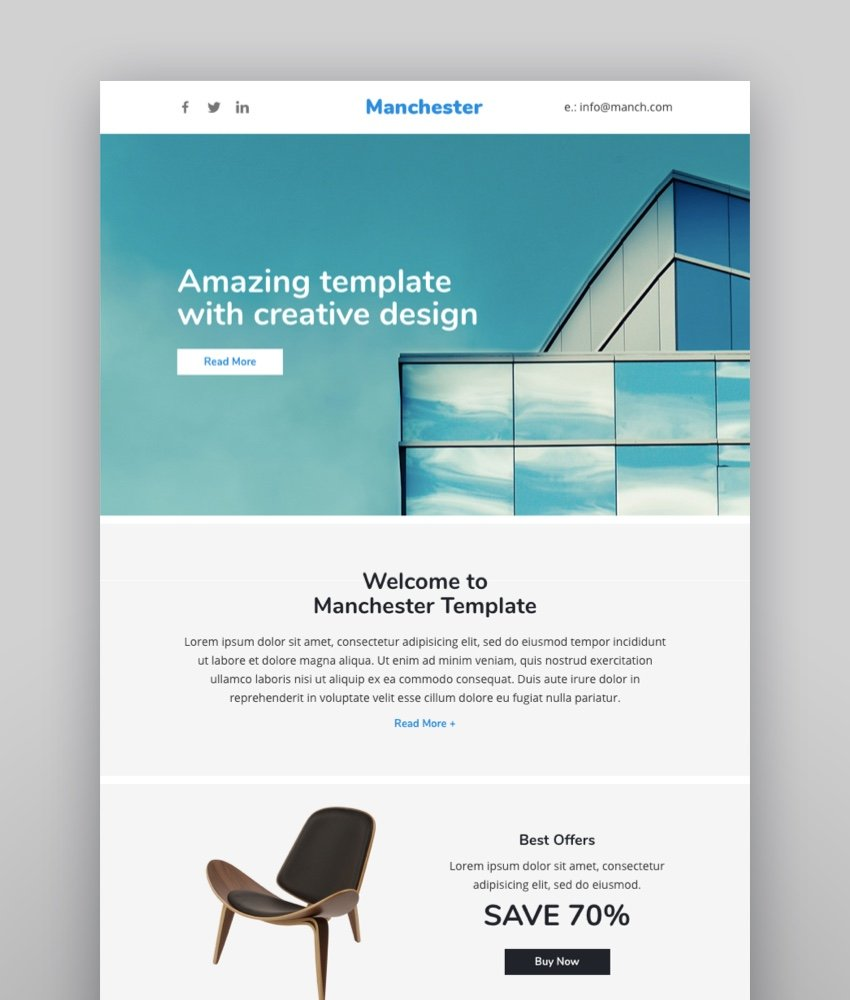 Manchester Email-Template  Online Builder