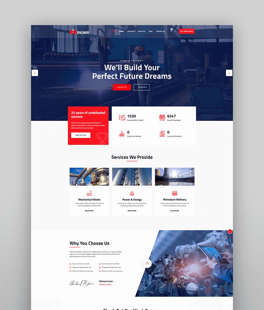 Enginir - Industrial  Engineering Multipurpose WordPress