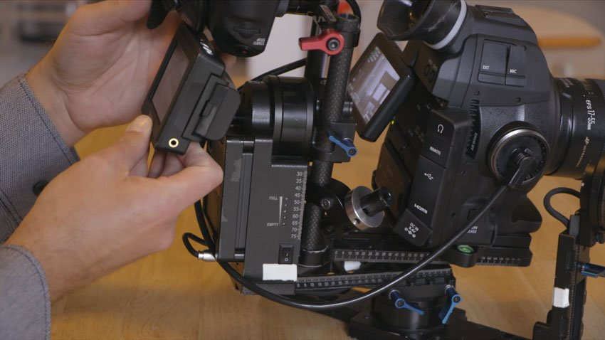 An external monitor can be more trouble than its worth on a gimbal