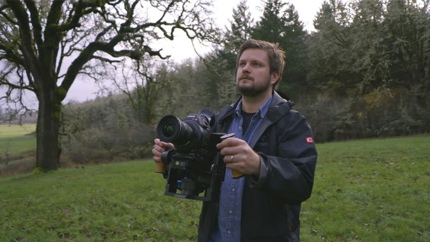 Recording video with a hand-held gimbal