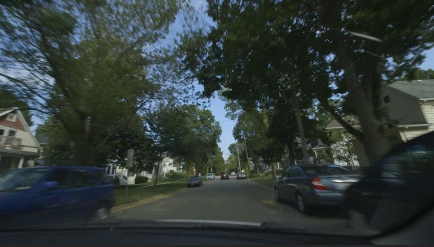 Shooting through the windscreen