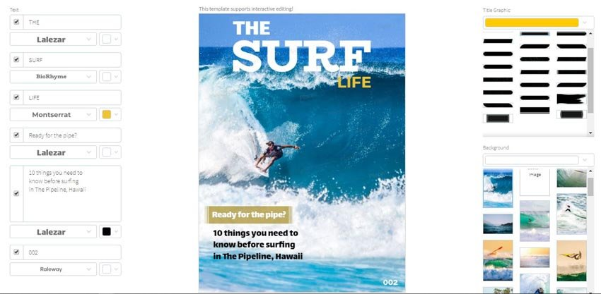 Surf Life template on Placeit