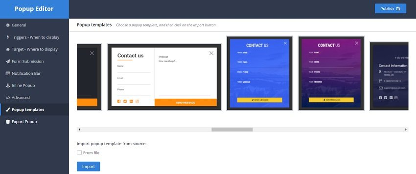 Email marketing plugin to create popups and notification bars