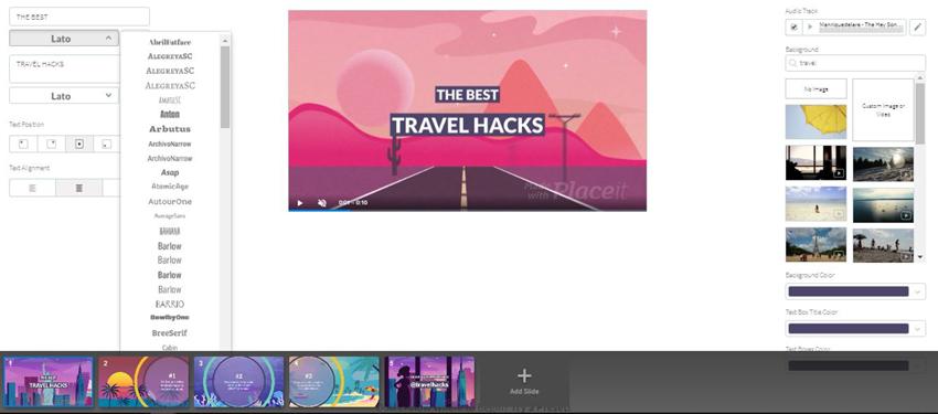 Placeit Blog Post Teaser Video Font Options