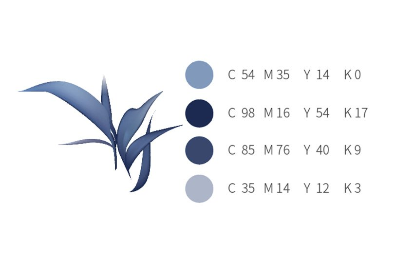 How to Make Chinese Flowers in Adobe Illustrator Blue Leaf Palette