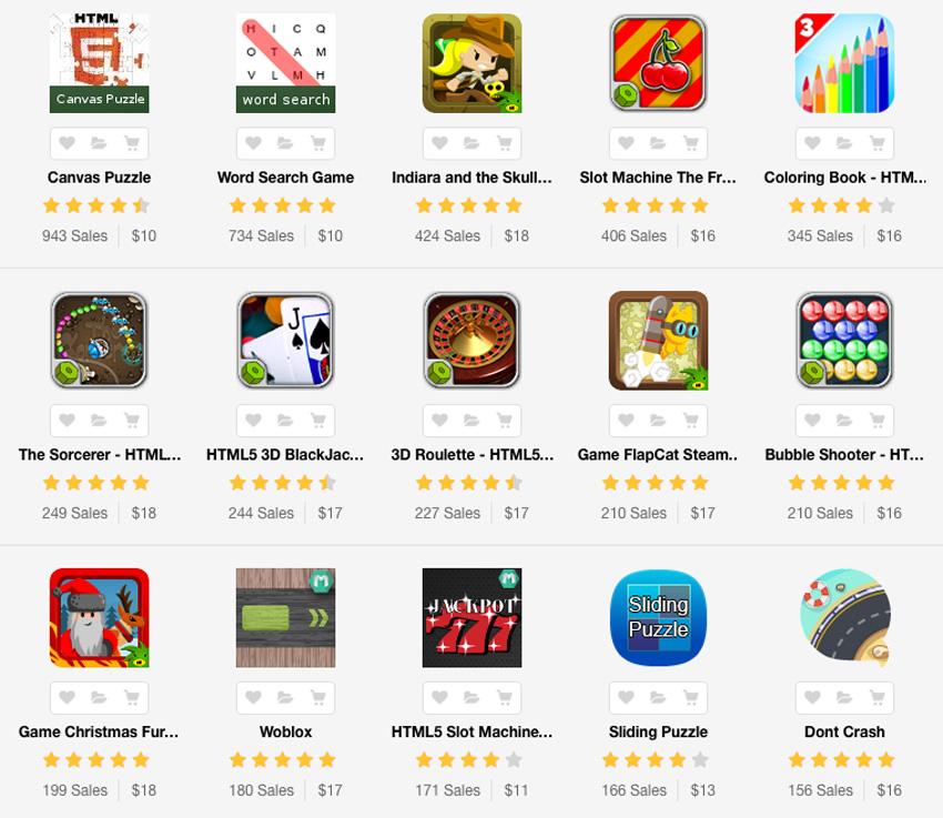 Game templates on Envato Market
