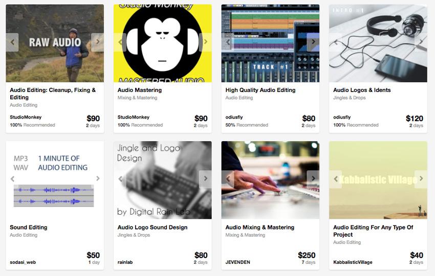 audio editing services on Envato Studio