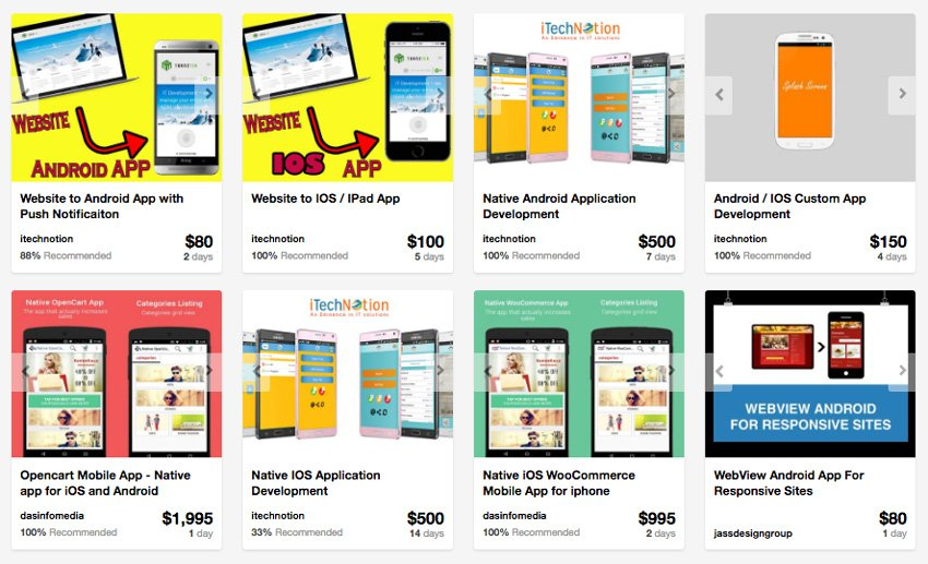 Mobile app developers on Envato Studio