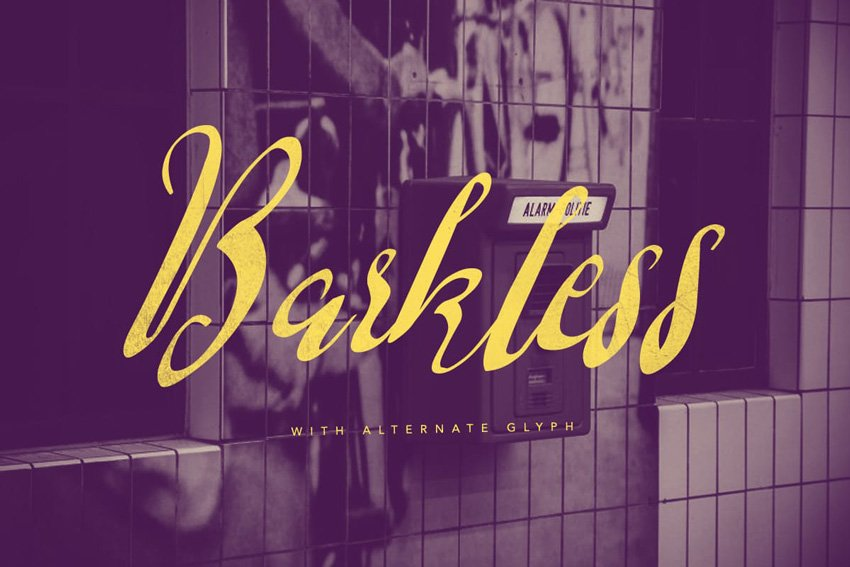 Barkless font on Envato Elements
