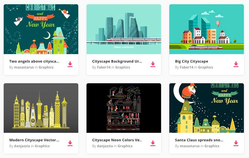 cityscape graphics on Envato Elements