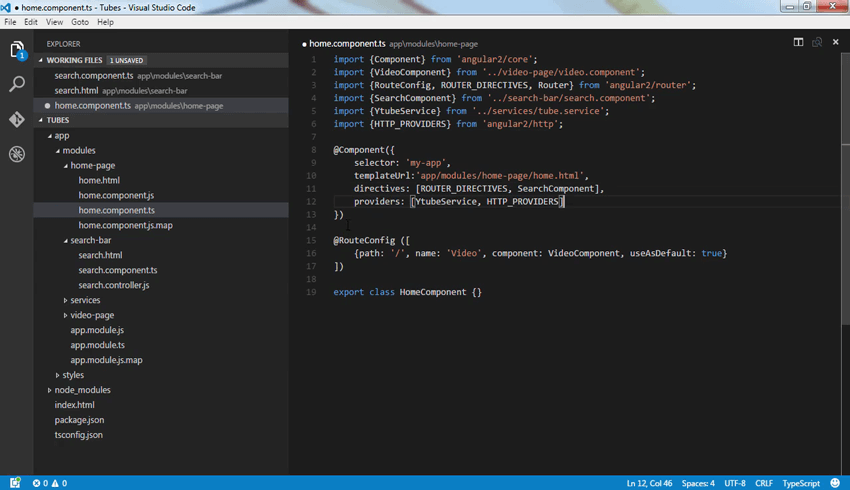 Screenshot from Upgrade Your App to Angular 2 course