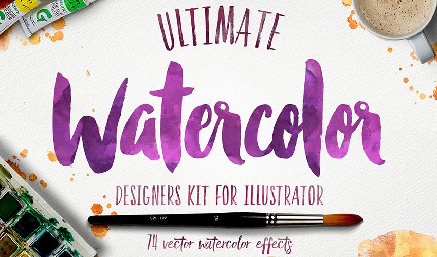 Envato Elements Watercolor designers kit