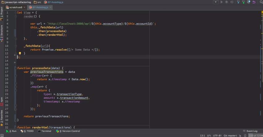 JavaScript Refactoring Techniques