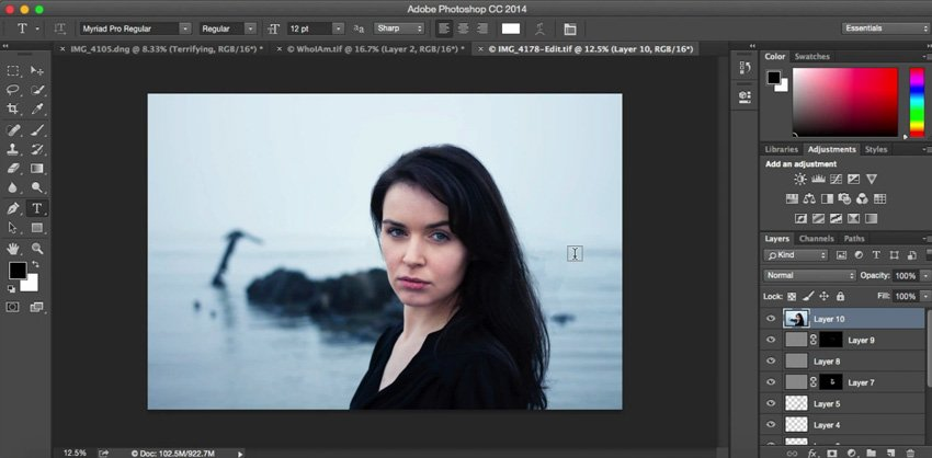 Editing an image in Adobe Photoshop