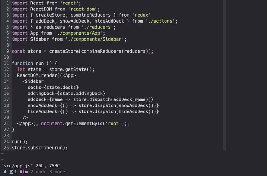 Store code in React Redux