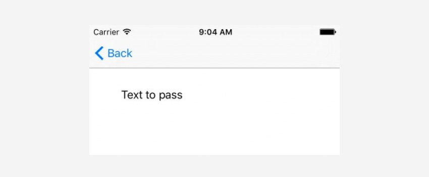 App showing Text to pass