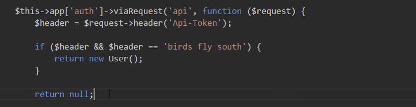code to check to see if we have something there