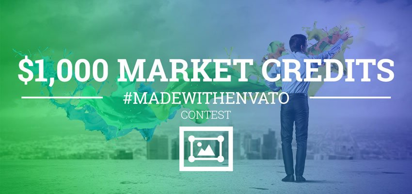 Made With Envato contest banner