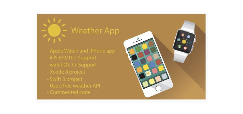 Weather app template