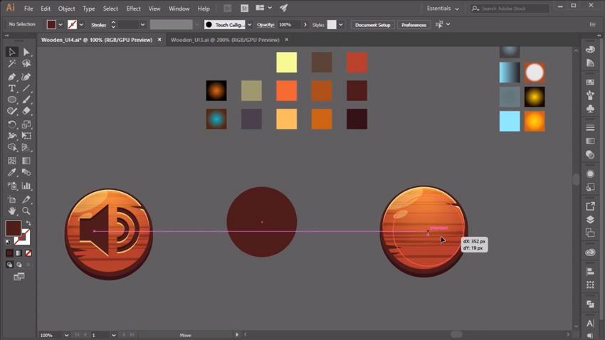 Screenshot from Designing Game UI Assets in Adobe Illustrator course
