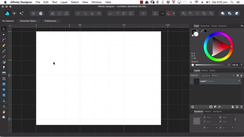 The default grid in Affinity Designer