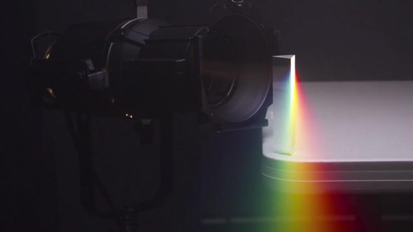 Light transmission through a prism