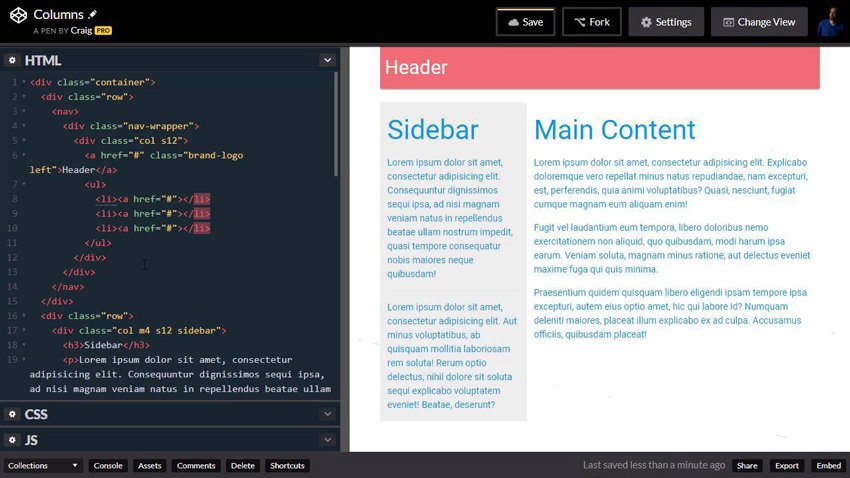 Headers and footers in Materialize