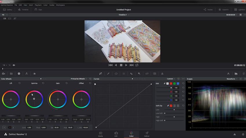 Adjusting colors in DaVinci Resolve