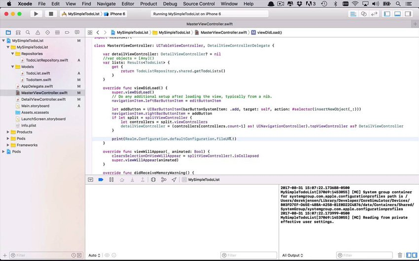 Realm Browser with Swift