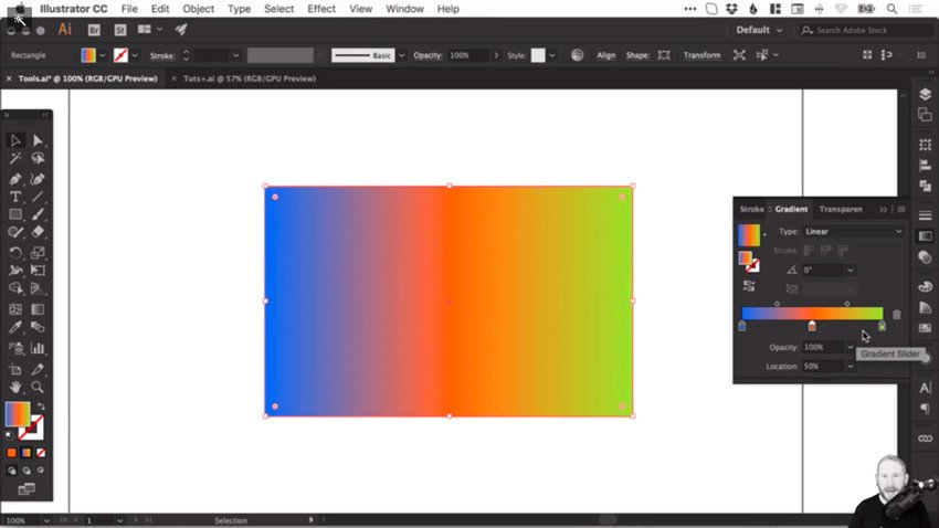 Gradient with black deleted