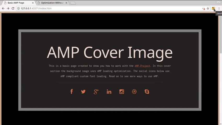 AMP site cover image