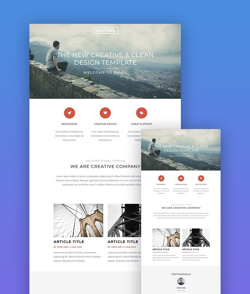 Sentinel email template