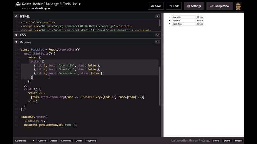 The TodoList component