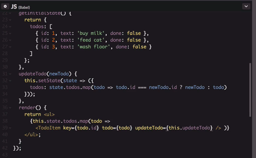 updateTodo function updated