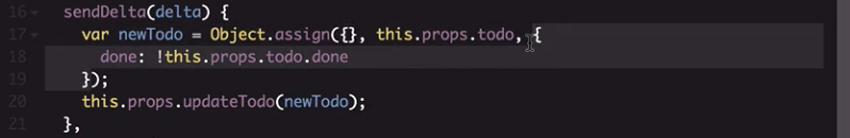 sendDelta function detail