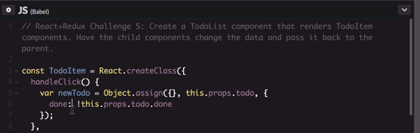 Code for a new todo