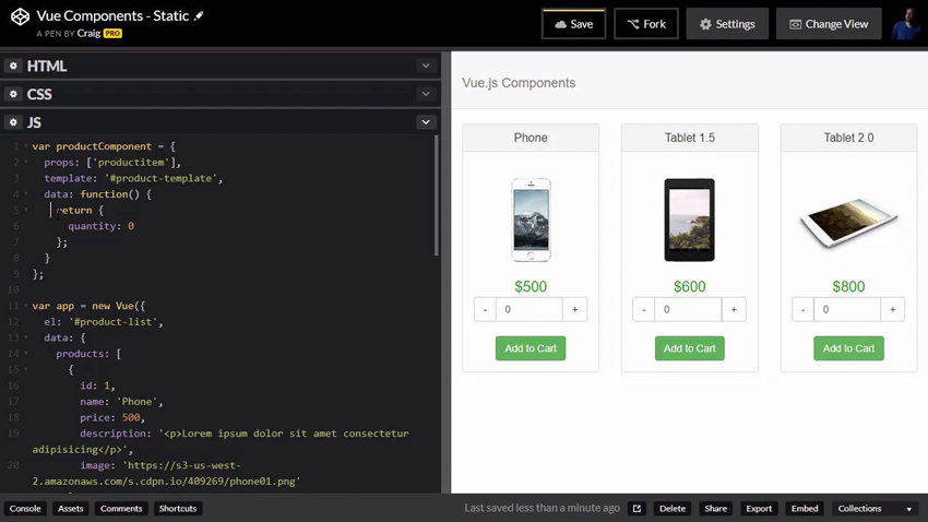 Screenshot from the course A Designers Guide to Vuejs Components