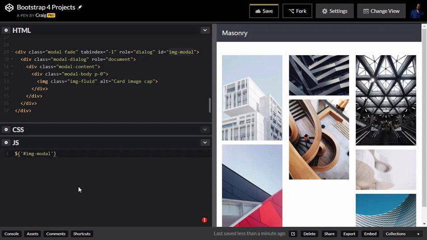 Creating masonry images in Bootstrap 4