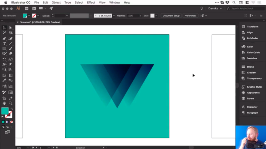 Logo with a teal background