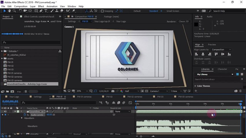 How to customize a logo sting
