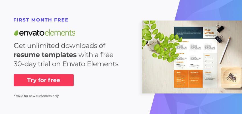30 day free trial of Envato Elements