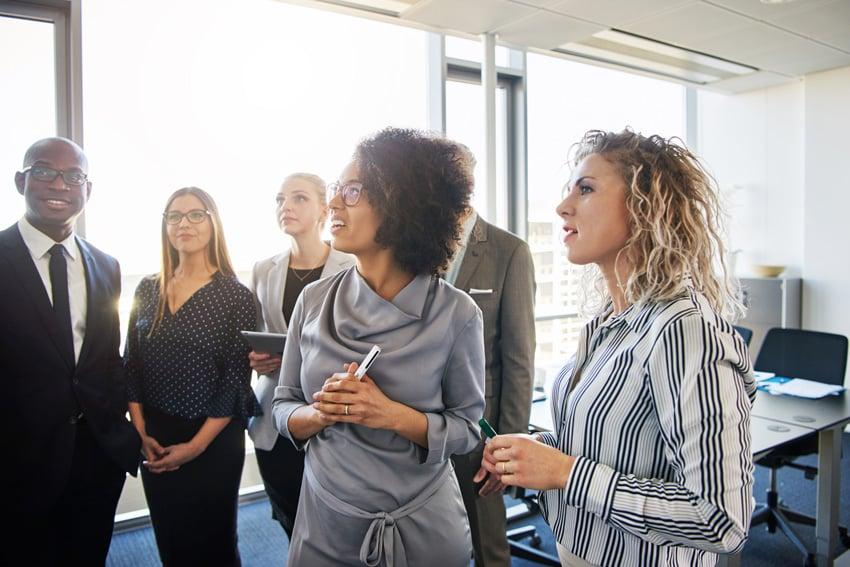 Women executives meeting
