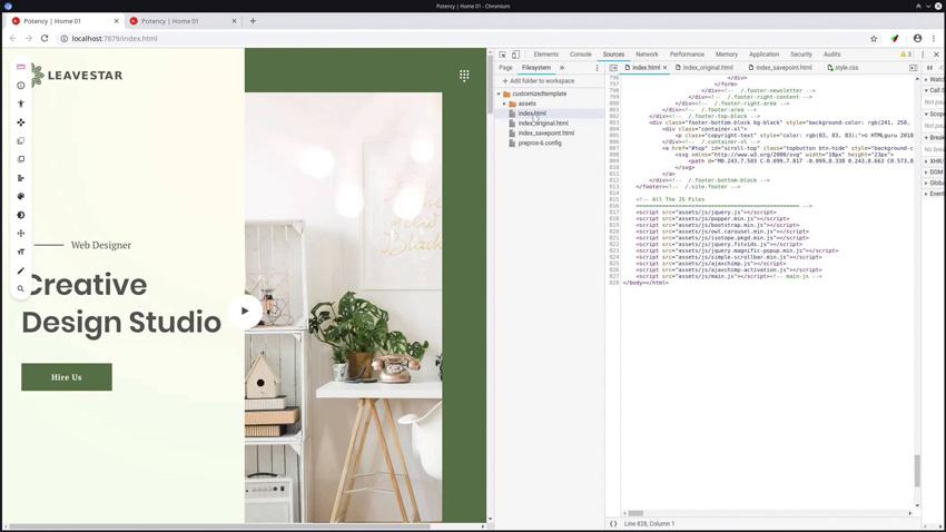 Customizing a Template With VisBug