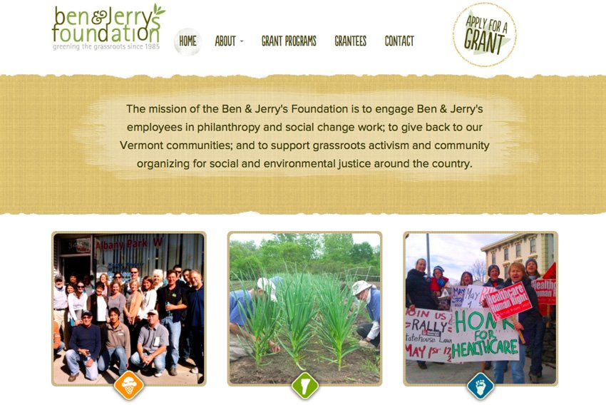 Ben  Jerrys Foundation website
